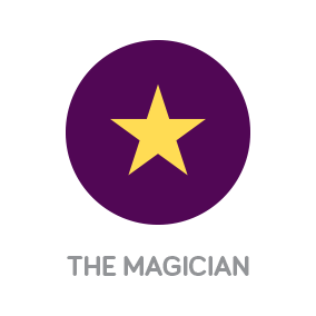 White River Design Branding with Personality Icon of The Personality Archetype The Magician