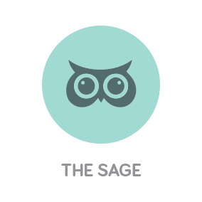 White River Design Branding with Personality Icon of The Personality Archetype The Sage